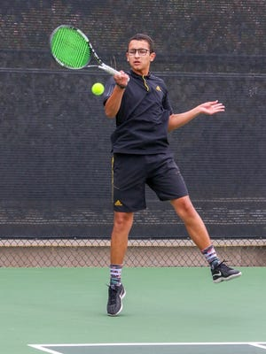 Freshman Ty Cohen won his three singles sets, 6-3, 6-2, 7-5, to help Ventura beat Troy 14-4 in the CIF-SS Division 3 boys tennis championship Friday at the Claremont Club.