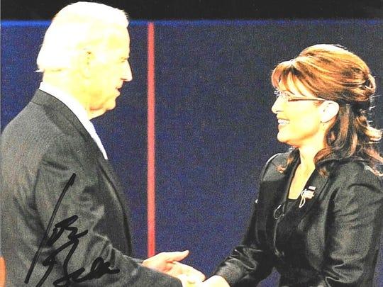Joe Biden and Sarah Palin autographed photograph.