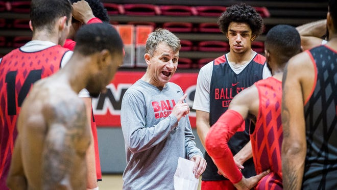 Ball State head coach James Whitford, shown here during a preseason practice, received a contract extension.