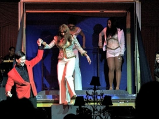 During this performance, magician David Hira brought