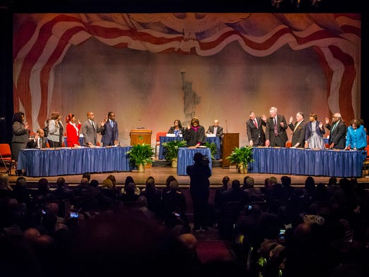 Members of the Wilmington City Council are sworn in