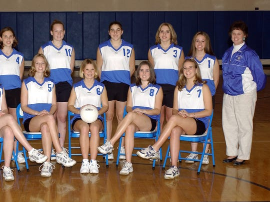 Bonnie Ball, top right, with the 2002 Fort Defiance volleyball team.