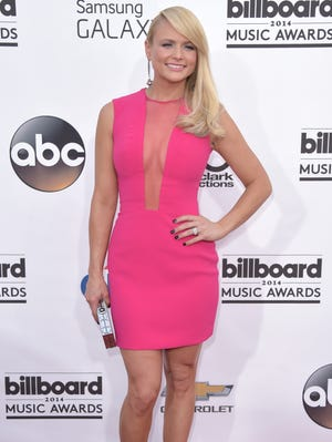 Miranda Lambert arrives at the Billboard Music Awards at the MGM Grand Garden Arena on Sunday, May 18, 2014, in Las Vegas.