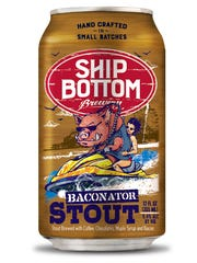 "Ship Bottom Brewery's ""bold, aggressive"" look for Baconator Stout was inspired by Kenny Powers, a character on 'Eastbound and Down,' says artist Brian Barto."