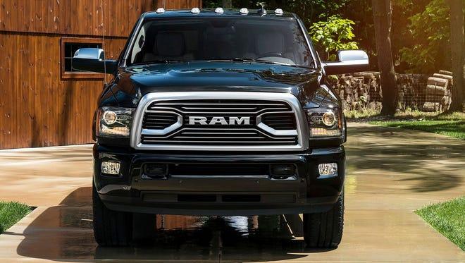 The 2018 Ram 2500 Limited Tungsten Edition. A fleet of 2018 Ram trucks were stolen early Thursday, May 3, 2018, from Fiat Chrysler Automobiles' Warren Truck Assembly Plant in Warren, Mich.