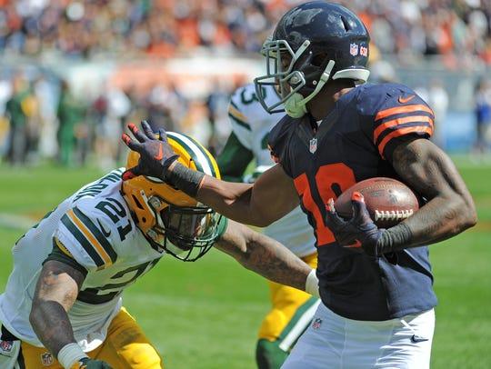Green Bay Packers safety Ha Ha Clinton-Dix (21) makes