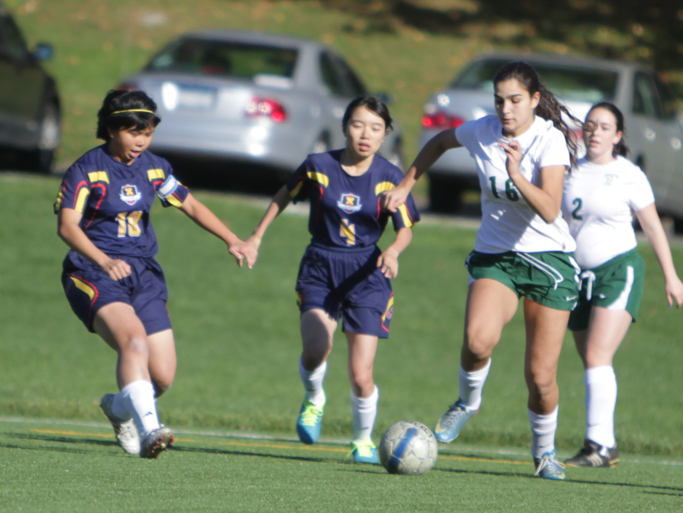 Solomon Schechter defeated Keio 9-2 in a Class C sectional quarterfinal game at Keio Academy, Purchase, on Monday, October 26th, 2015