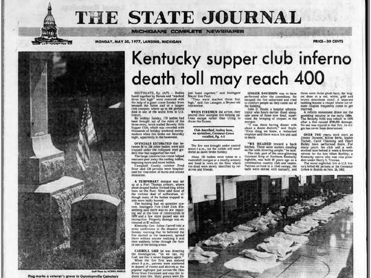 A copy of the Lansing State Journal from May 30, 1977