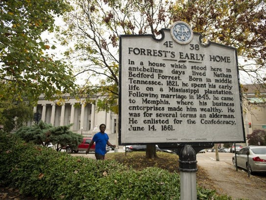 Forrest's early home and slave mart were near corner