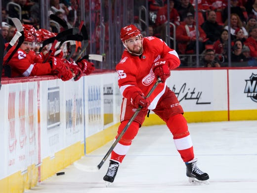 e659cbe115d Wings loss dims milestone night for  real good  Mantha