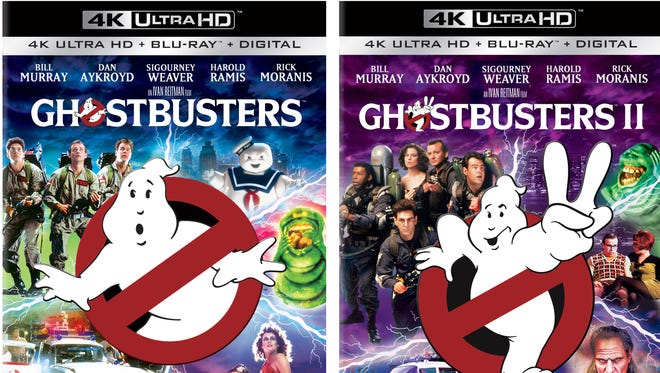 The 'Ghostbusters' films from the 1980s are getting 4K Ultra HD editions with souped-up picture and remixed sound.