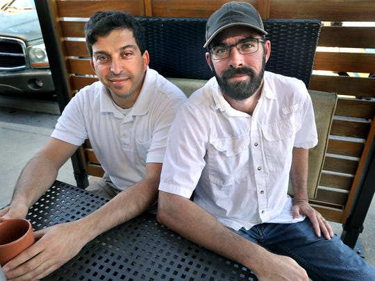 "Murfreesboro Muslim Youth founder Abdou Kattih, left, and Murfreesboro Cold Patrol member Jason Bennett are co-planners of the ""Love Your Neighbor"" interfaith picnic that is held quarterly."