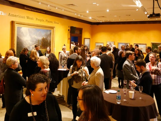 A reception for announcing The Rockwell Museum's new affiliation with the Smithsonian Institute was well attended Tuesday.