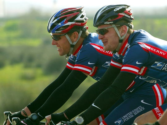 Lance Armstrong, left, was nailed by the Anti-Doping