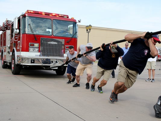 Fire Truck Pull fundraiser 1
