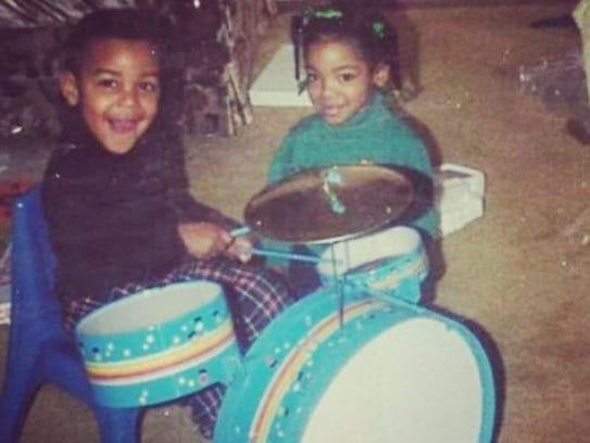 Duron Marquis Hale, left, has been drumming since he