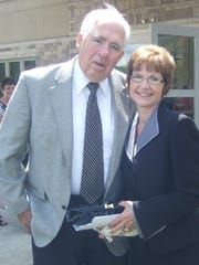 Judge Richard Evans and his wife Jill Collins.