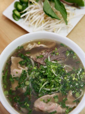 Pho soup with beef was one of the specialties at Cilantro Vietnamese Bistro in Clifton. The restaurant closed Sunday.
