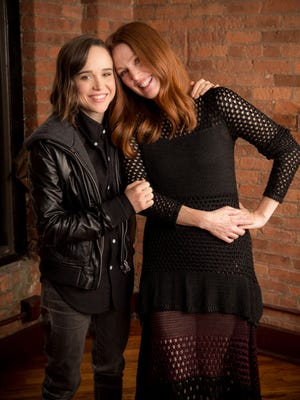 Ellen Page and Julianne Moore fostered a new friendship playing a lesbian couple in 'Freeheld.'
