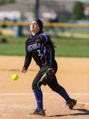 Hammonton's Nicole Vaccarella pitches during a 9-8 win over Highland on May 16.