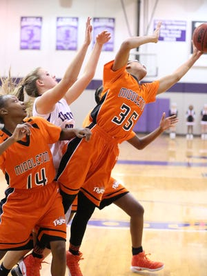 Middleton's Cherelle Jones and the Lady Tigers play Jackson Christian on Friday followed by USJ on Saturday.