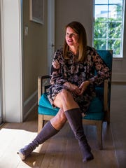 Naples author Gwendolyn Garrett Heasley in her home