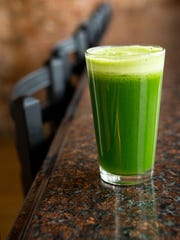 Green juice at New World Cafe.