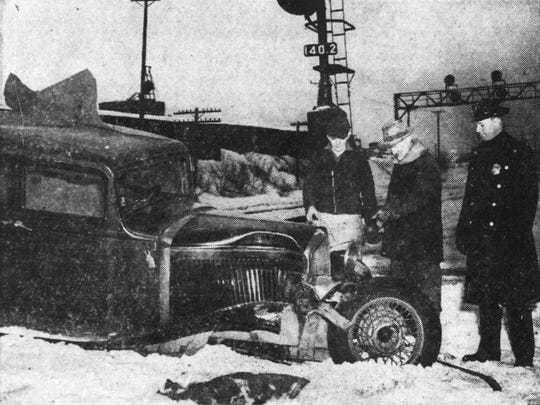 Samuel E. McClain (center), Milo Kobbe and Patrolman