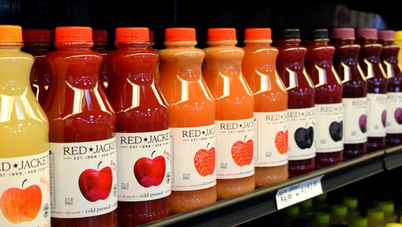 A selection of products from Red Jacket Orchards.
