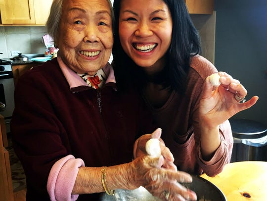 Benita Cooper cooks with her 96-year-old grandmother,