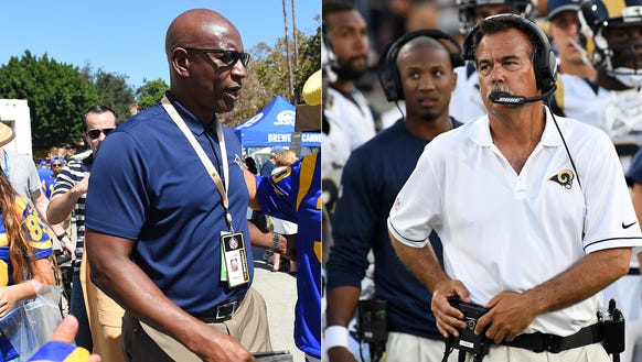 Eric Dickerson and Jeff Fisher