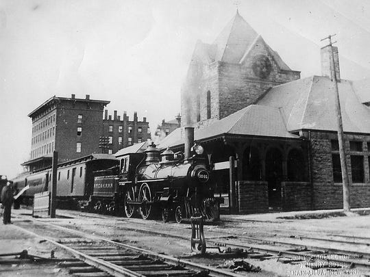 John Harrison Surratt Jr. arrived at the Canandaigua railroad depot the same day President Lincoln died.