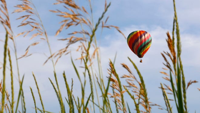 Hot-air balloons take center stage during Ashland's annual Balloonfest.
