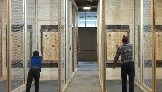 Craft Axe Throwing is expected to open in Greenville's Hampton Station in March 2018.