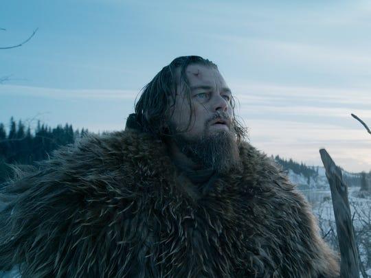 Leonardo DiCaprio as Hugh Glass in 'The Revenant.'