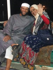 Tairod Pugh and his wife on a Nile cruise