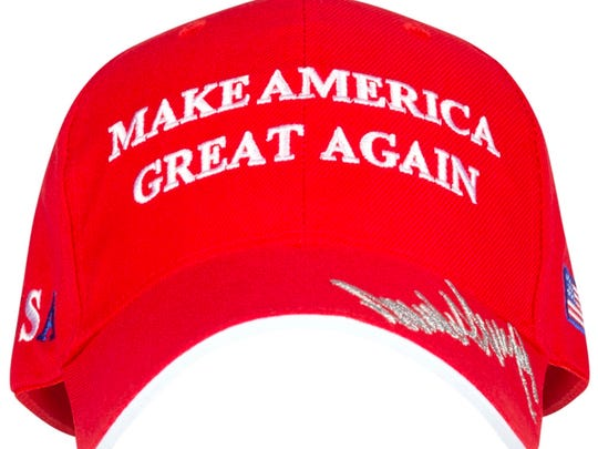 This Donald Trump Make America Great Again hat is $19.95 at the White House Gift Shop.