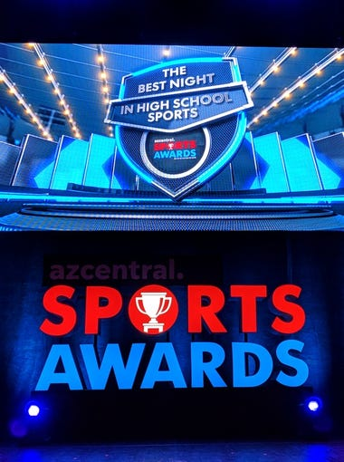 The azcentral.com Sports Awards stage. We celebrate the best in Arizona high school sports at ASU Gammage in Tempe, Sunday, June 10, 2018.