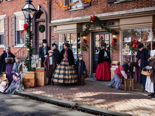 "Follow the cast of ""A Christmas Carol"" around Old New Castle when they perform outside at the ""Spirit of Christmas"" festival."