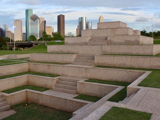 Police Officer Memorial by Jesus Morales on Memorial Drive in Houston.