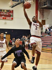 Oakland's Wanya Moton goes in for a layup during Saturday's