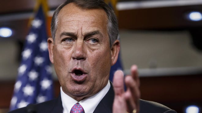House Speaker John Boehner of West Chester Township during a news conference on Capitol Hill.
