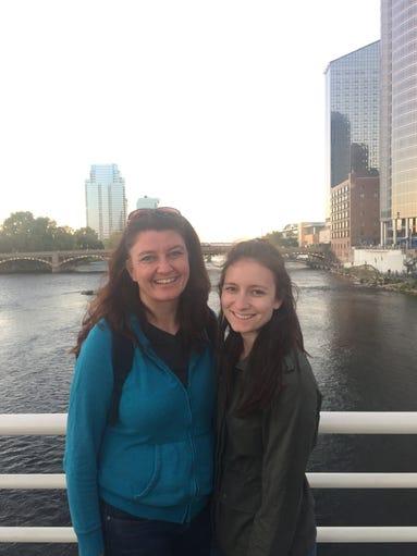 Hometownlife journalist Susan Bromley and her daughter