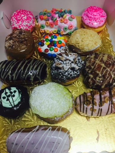 Pictured are all of Bashas' 2017 Donut Flavor Craze