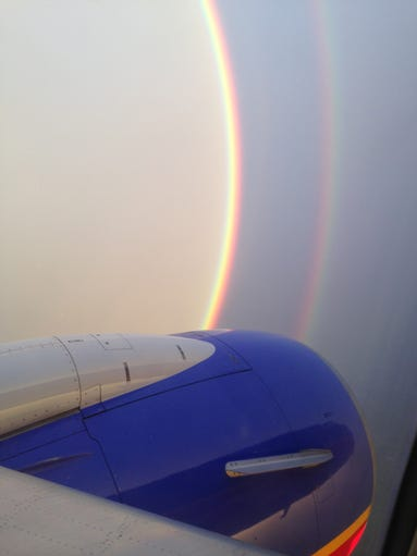 rainbow seen from a plane