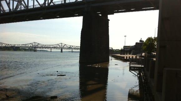 Ohio River fishing pier.