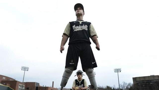 Vanderbilt baseball student managers Josh Ruchotzke and Mike Portu have overcome much to get to where they are. Ruchotzke has been a quadruple amputee for several years after an infection, and Portu has undergone four heart surgeries, including three as an infant.