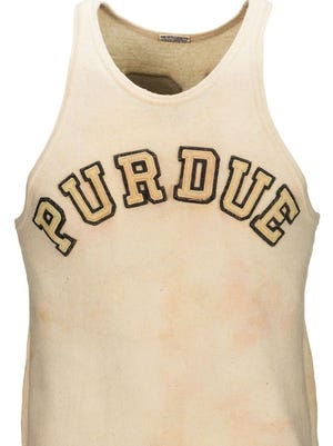A game-worn Purdue jersey of Hall of Fame player and coach John Wooden from the 1930-32 era is up for auction.