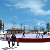 Alyson Dudek International Ice Center  in Hales Corners Park slides forward