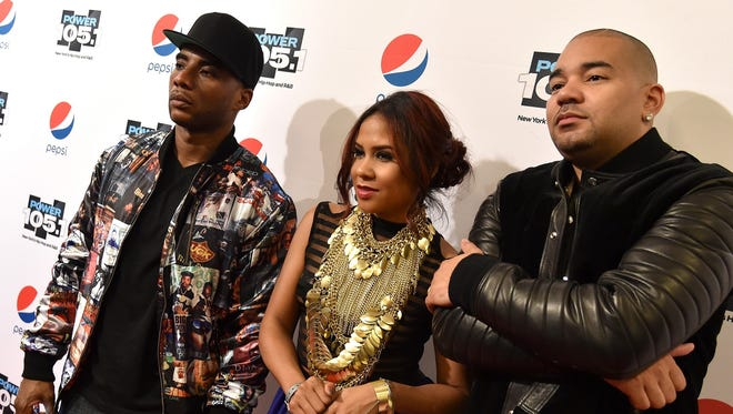 "Popular syndicated radio show ""The Breakfast Club,"" hosted by (from left) Charlamagne Tha God, Angela Yee and DJ Envy, interviewed Milwaukee Alderman Khalif Rainey and The Source founder Dave Mays on Thursday's show to talk about Hip-Hop Week MKE."